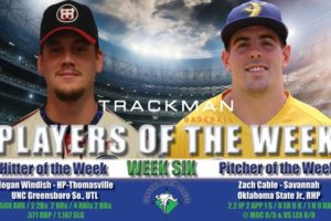 Windish and Cable Named Week Six Coastal Plain League Players of the Week