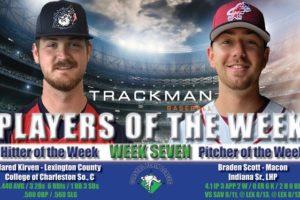 Kirven and Scott Named Week Seven Coastal Plain League Players of the Week